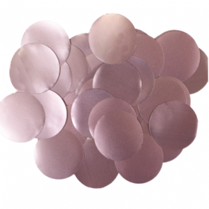 Pearl Light Pink Foil Confetti for Balloons | 25mm Round 50g Bag
